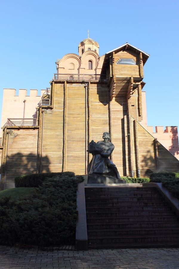 Golden Gate antique de murs à Kiev photos libres de droits