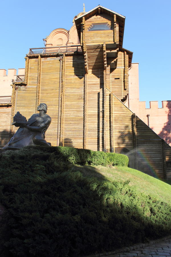 Golden Gate antique de murs à Kiev photos stock