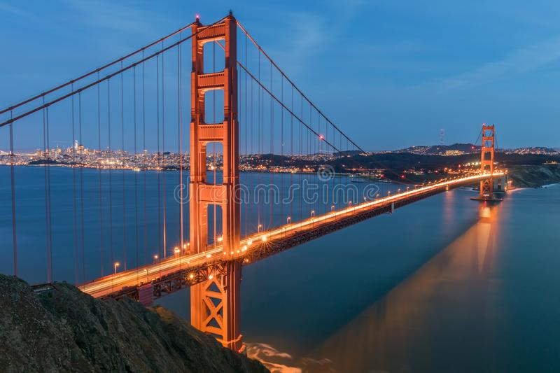The Golden Gate from Battery Spencer stock images