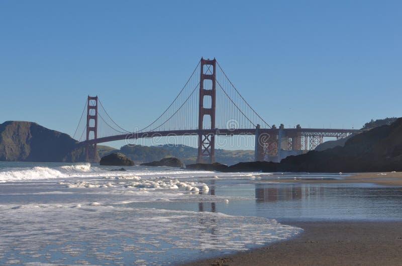 Golden Gate Bridge From Baker Beach Royalty Free Stock Image