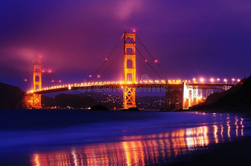 The golden gate bridge from Baker Beach. Taken slightly after sunset royalty free stock images