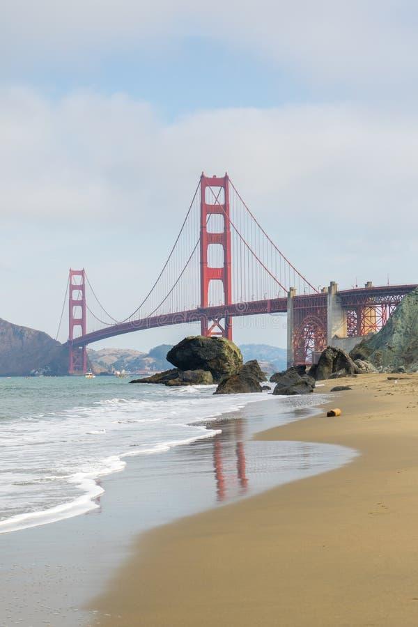 Golden gate bridge-Bezinning royalty-vrije stock foto
