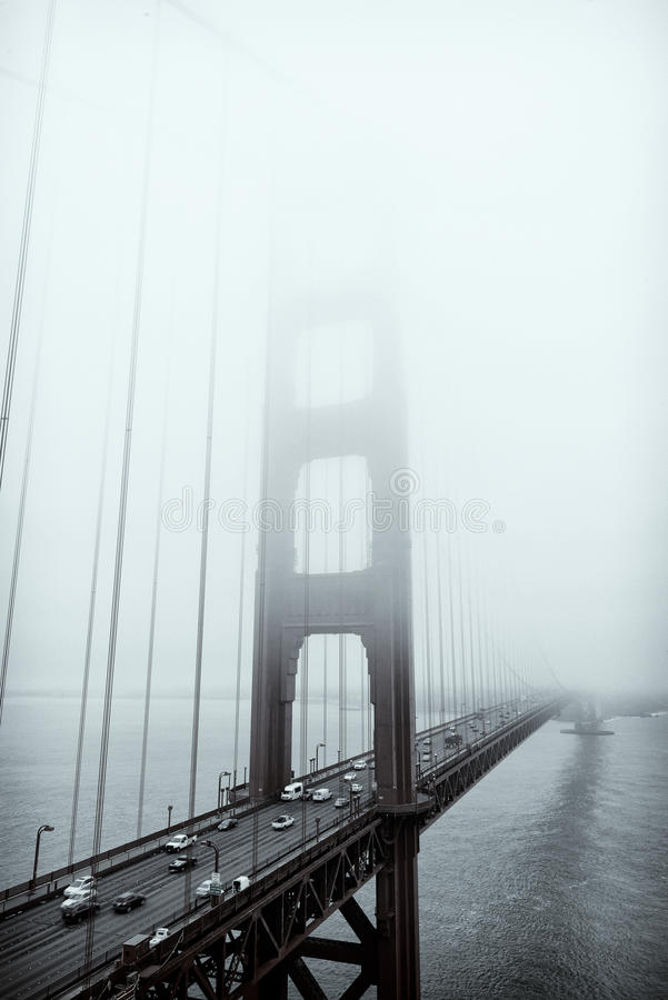 Golden gate bridge in bianco e nero, San Francisco fotografia stock