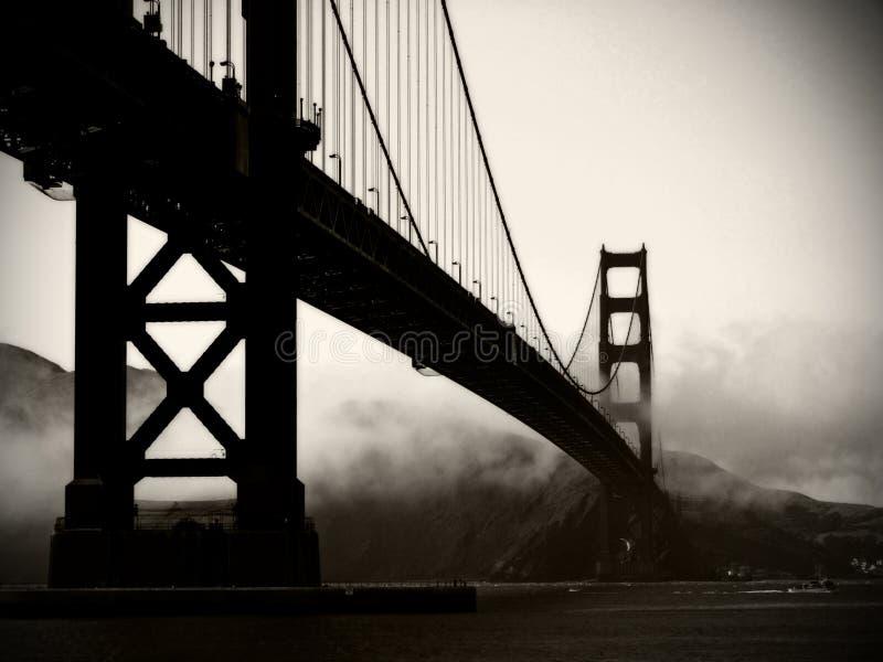 Golden Gate Bridge - Black And White Stock Photography