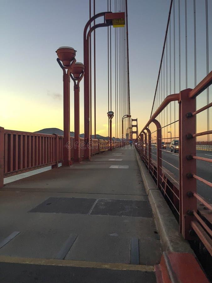 Golden Gate Bridge bycicle pas ruchu zdjęcia royalty free