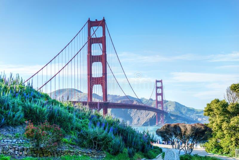 Golden gate bridge cênico em San Francisco, Califórnia, EUA fotos de stock