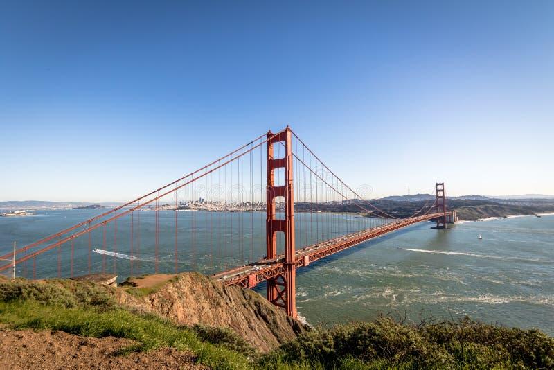 Golden Gate Bridge and city Skyline - San Francisco, California, USA stock photos