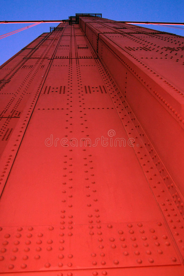 Golden Gate Bridge column stock image