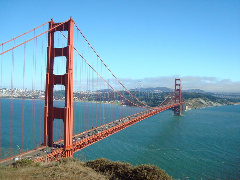 Golden gate bridge da sopra fotografia stock libera da diritti