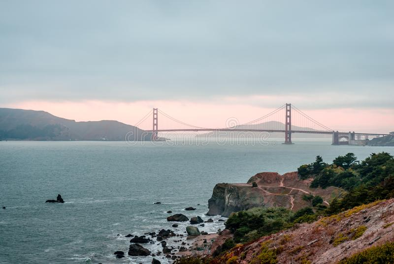 Golden gate bridge de Land's End photographie stock libre de droits