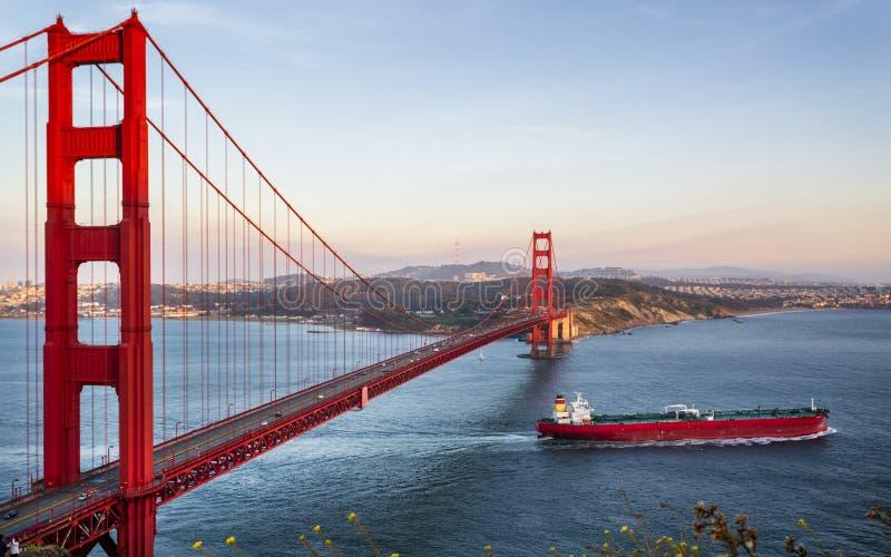 Golden gate bridge de point de vue images libres de droits