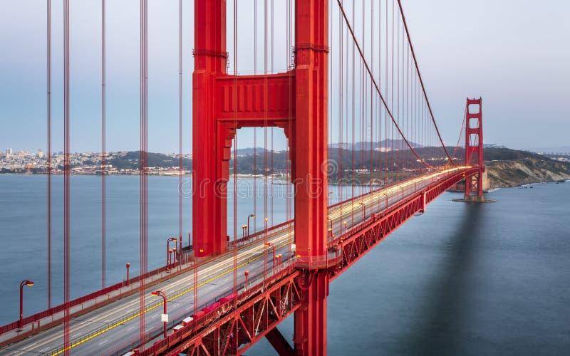 Golden gate bridge de point de vue photo stock