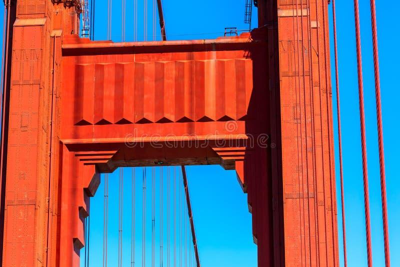 Golden gate bridge-Details in San Francisco California stockbilder