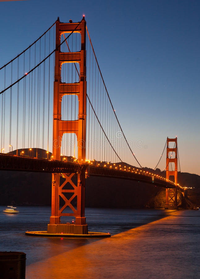 Golden Gate Bridge At Dusk Stock Images
