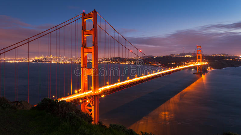 Golden Gate Bridge at Dusk royalty free stock photography