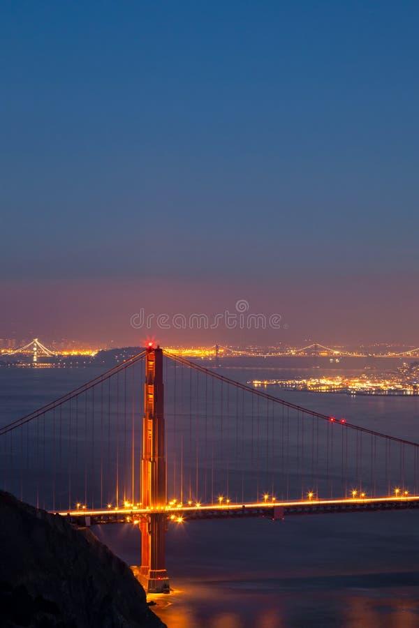 Golden gate bridge et photo de pont de baie images libres de droits