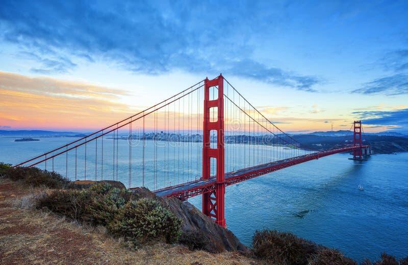 Golden gate bridge famoso, San Francisco imagens de stock royalty free
