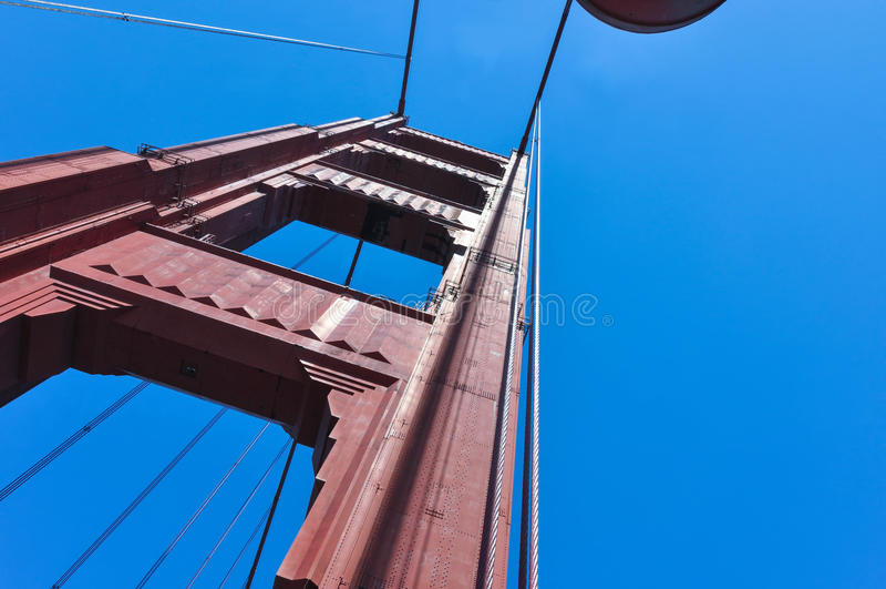 Golden gate bridge filar, San Fransisco zdjęcia stock