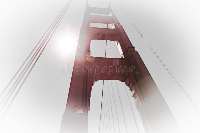 Golden Gate Bridge filar w San Fransisco, Kalifornia, zdjęcia stock