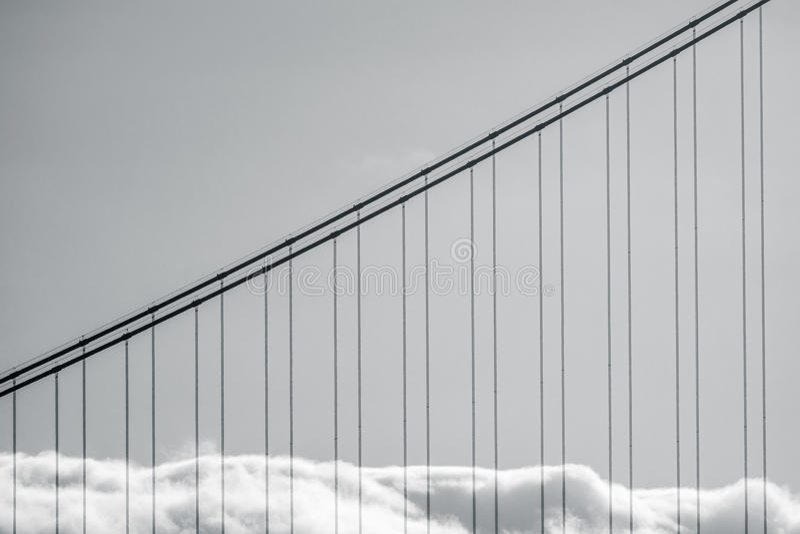 Golden Gate Bridge Fog royalty free stock photos