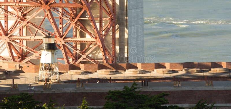 Golden Gate Bridge Fort Point San Francisco Harbor Lighthouse stock photos
