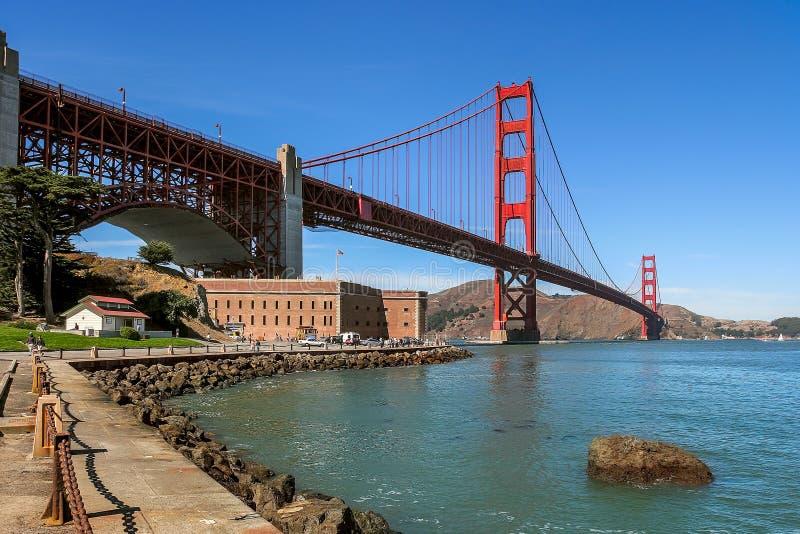Golden Gate Bridge i fortu punkt obrazy royalty free