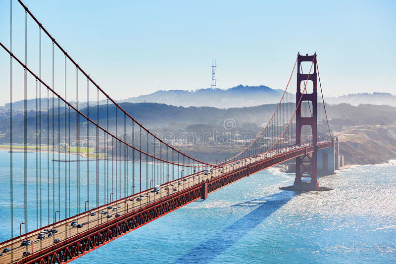 Golden gate bridge i San Francisco, Kalifornien, USA arkivfoto