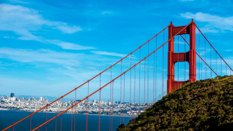 Golden gate bridge i San Fransisco, Kalifornien royaltyfri fotografi
