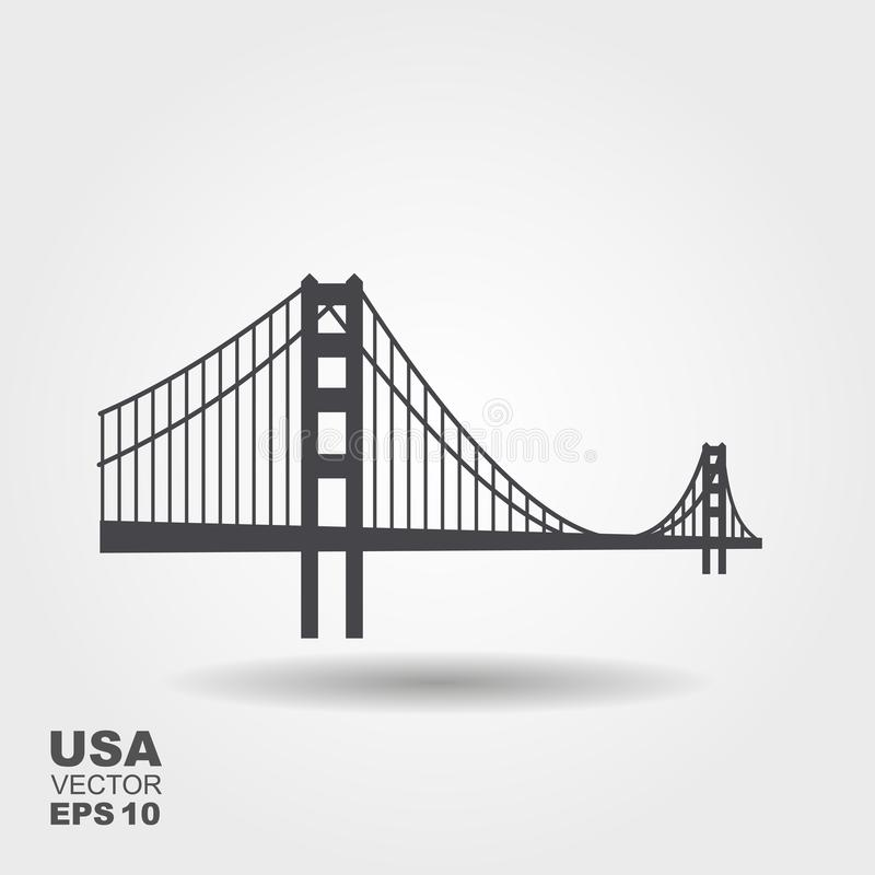 Golden Gate Bridge icon royalty free illustration