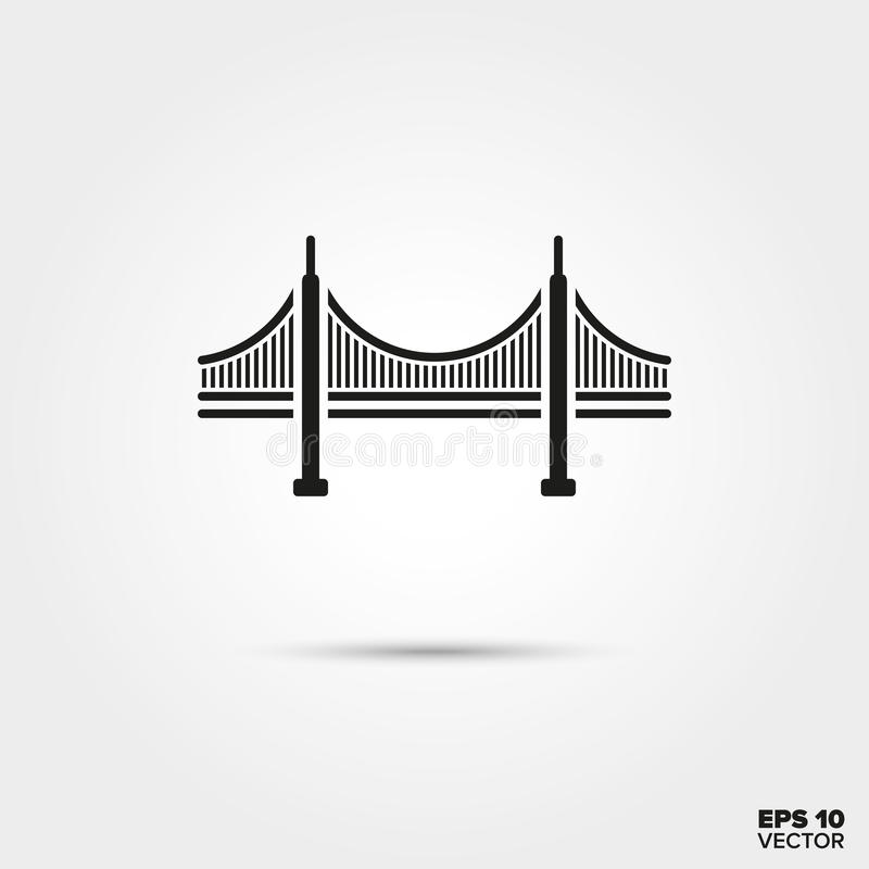 Golden Gate Bridge Icon stock illustration