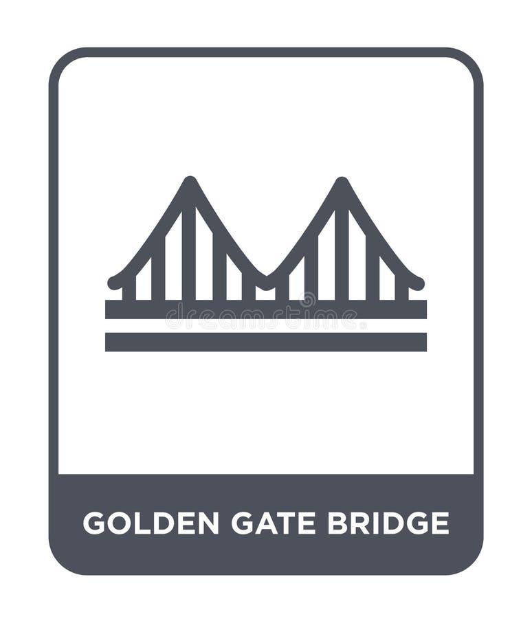golden gate bridge icon in trendy design style. golden gate bridge icon isolated on white background. golden gate bridge vector vector illustration
