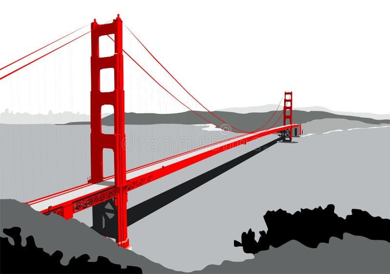 Golden Gate Bridge Stock Illustration - Image: 63954112