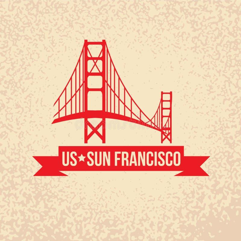 Golden gate bridge - le symbole des USA, Sun Francisco photos stock