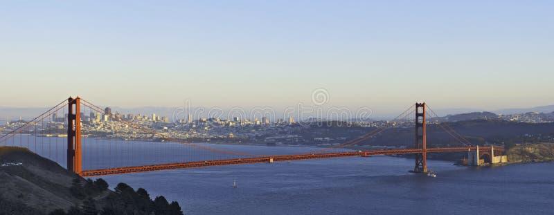 Golden Gate Bridge lit by the stock photos
