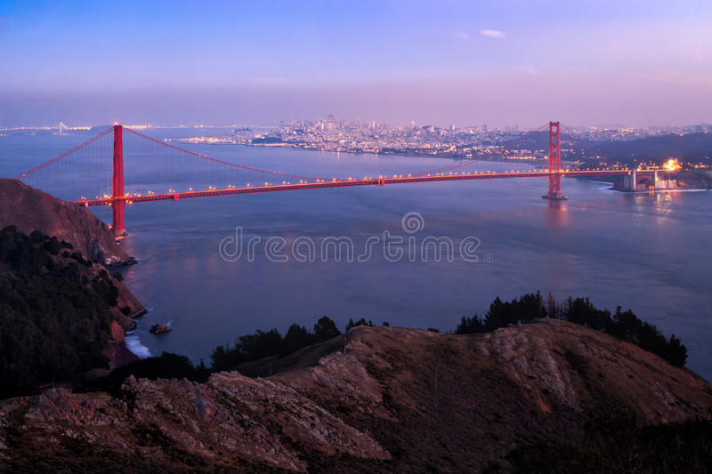 Golden gate bridge Marin Headlands View royaltyfri bild