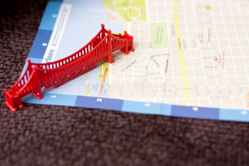 Golden Gate Bridge miniatura obrazy royalty free