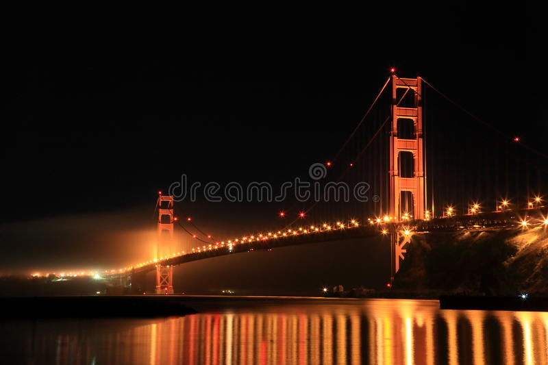 Golden Gate Bridge at Night royalty free stock images