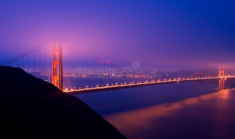Download Golden Gate Bridge At Night Stock Image - Image: 4449075