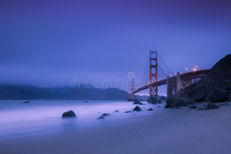 Golden Gate Bridge During Nighttime Free Public Domain Cc0 Image