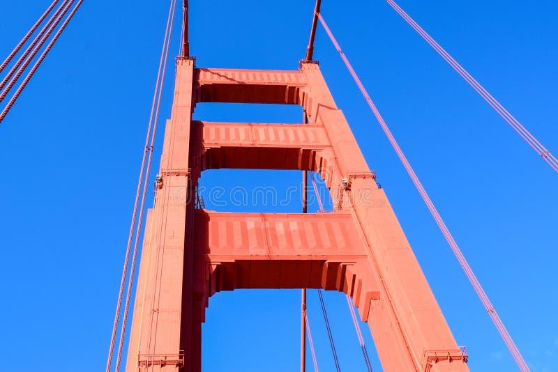 Golden gate bridge - norr torn royaltyfria bilder