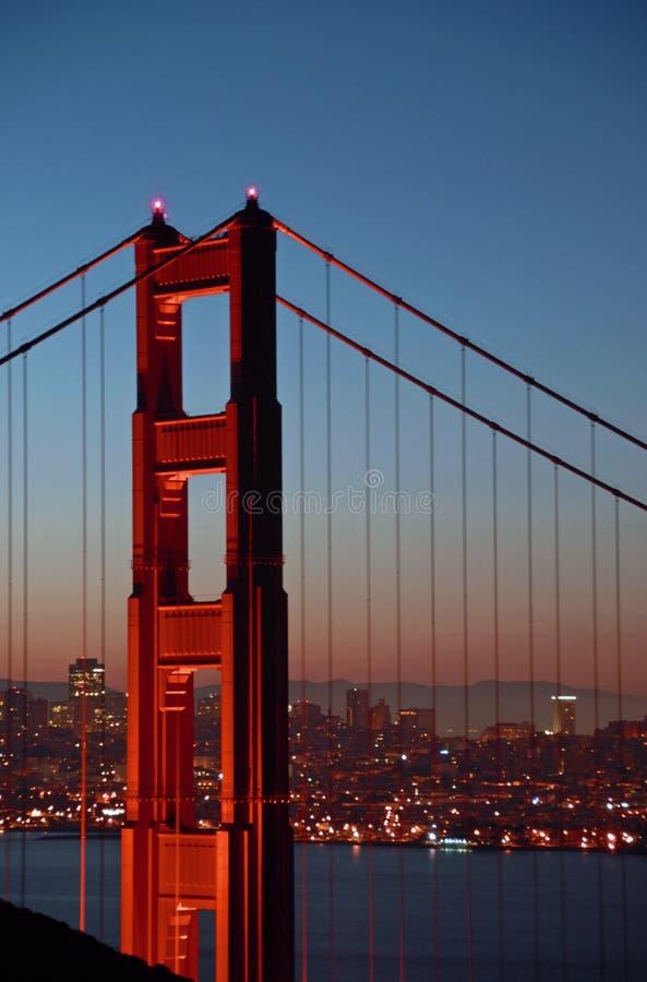 Golden Gate Bridge North Tower stock photography