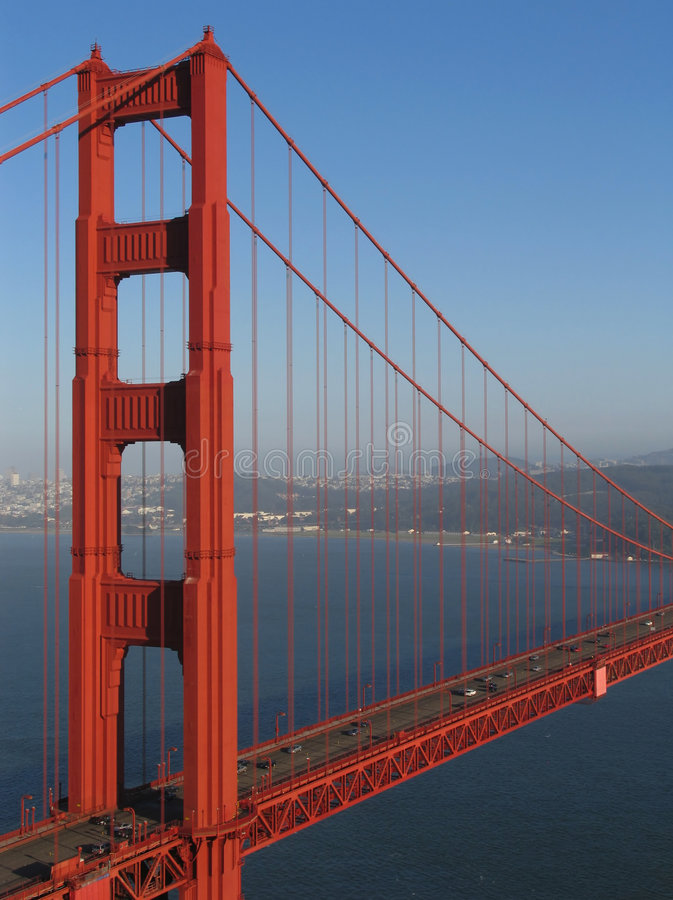 Golden Gate Bridge Northern Tower Offset royalty free stock images