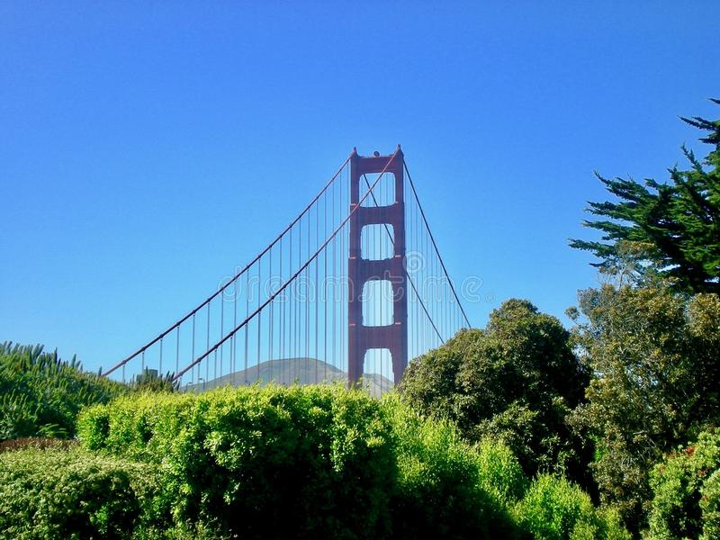 Golden Gate Bridge Od odległości obraz royalty free