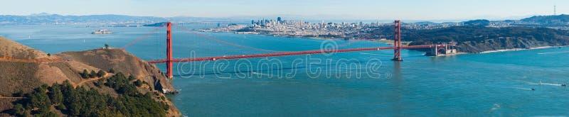 Golden Gate bridge panorama royalty free stock image