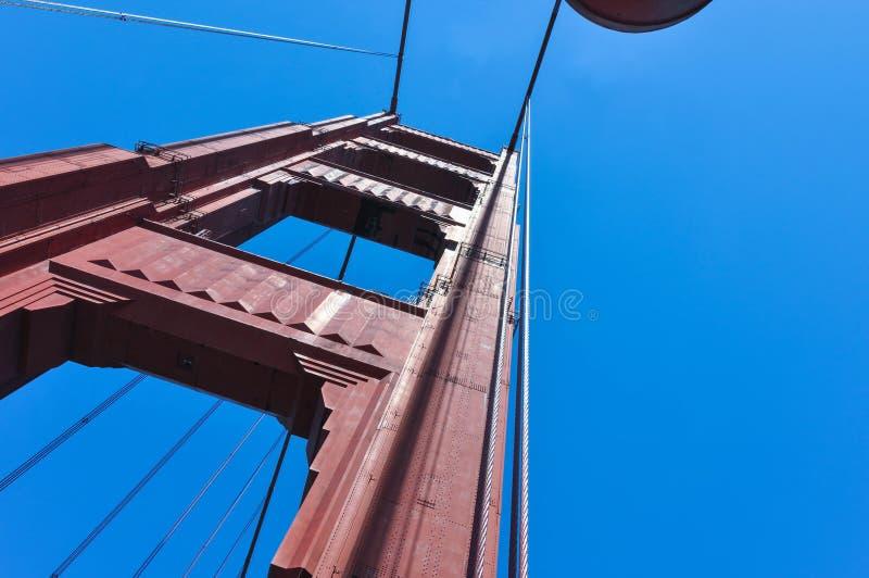 The Golden Gate Bridge Pillar, San Francisco stock photos