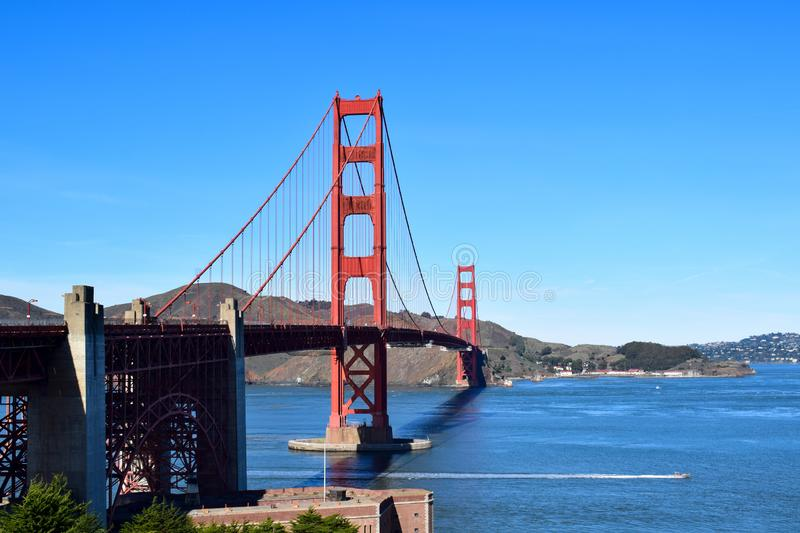 Golden gate bridge - punto forte POV fotografie stock