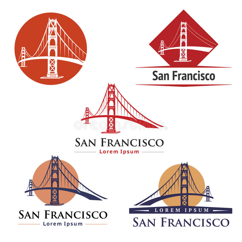 Golden Gate Bridge vector illustration
