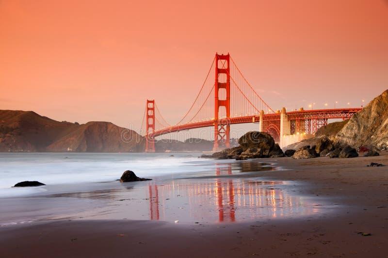 Golden Gate Bridge, San Francisco. Golden Gate Bridge in San Francisco shot from Marshall Beach stock photography