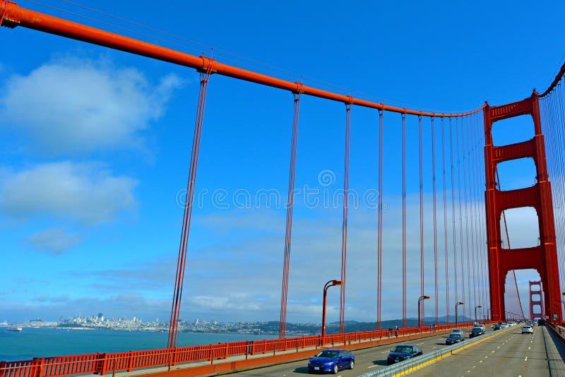 Golden gate bridge in San Francisco - CA lizenzfreie stockbilder