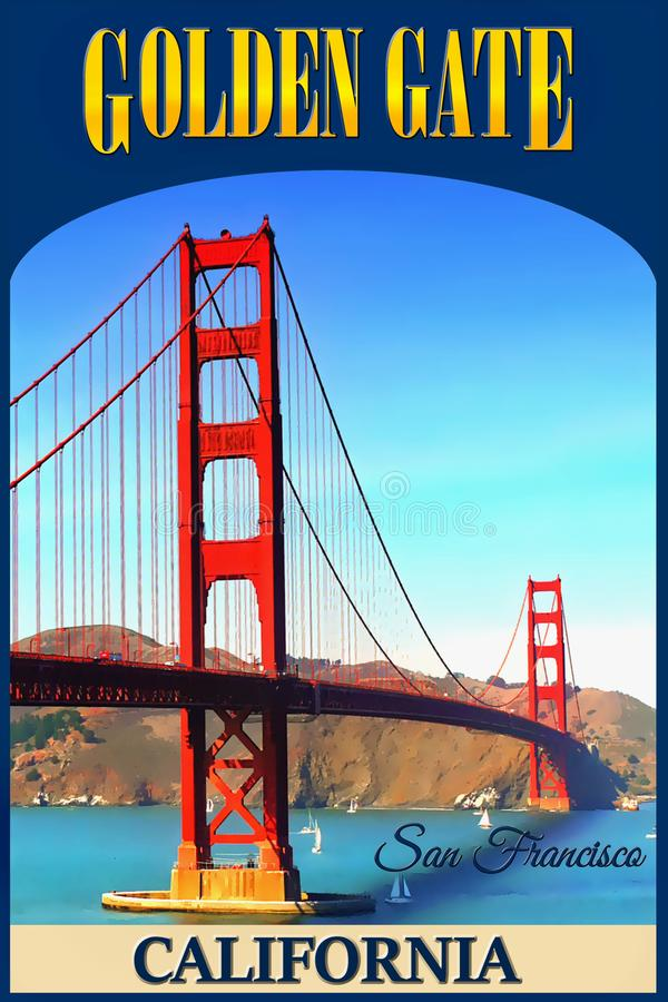 Golden Gate Bridge, San Francisco, California stock photography
